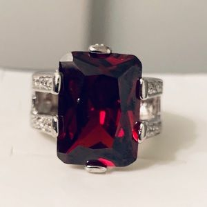 Jewelry - Natural Blood Red Ruby Diamond Ring In Solid 14K
